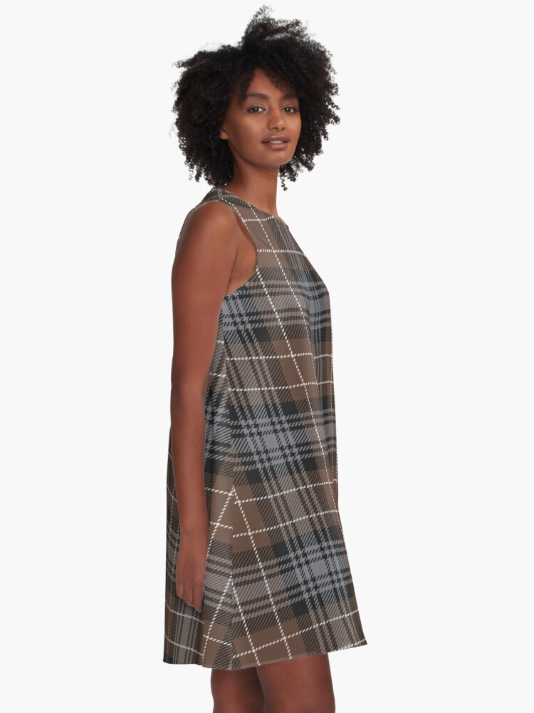 Alternative Ansicht von Clan Abercrombie Tartan (STA 241, Reproduction) A-Linien Kleid