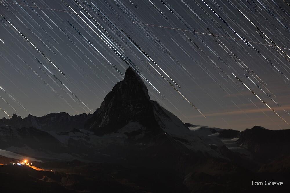 Matterhorn - Zermatt, Switzerland and startrails by Tom Grieve