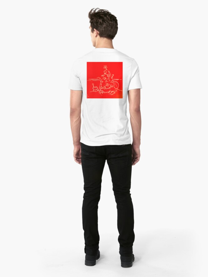 Alternate view of Australian Christmas in Red Tee Slim Fit T-Shirt