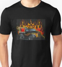 Kindermotiv Feuertruck  Slim Fit T-Shirt