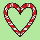 Cute candy cane heart by peppermintpopuk