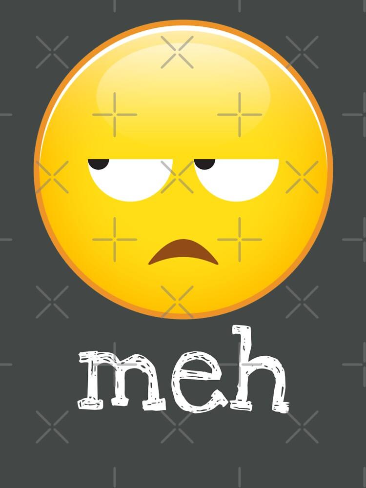 Meh Emoji gelangweiltes Gesicht von petestyles