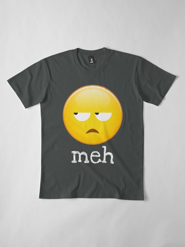 Alternative Ansicht von Meh Emoji gelangweiltes Gesicht Premium T-Shirt