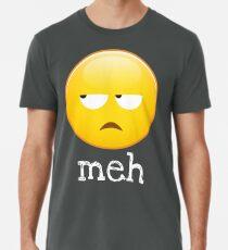 Camiseta premium para hombre Meh Emoji aburrida cara