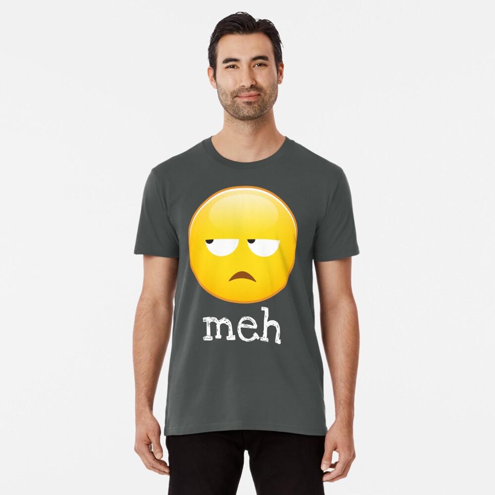 Meh Emoji gelangweiltes Gesicht Premium T-Shirt