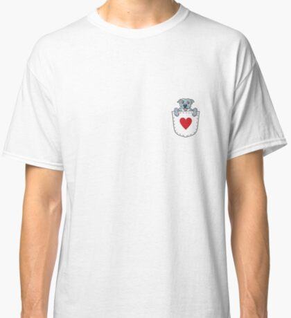 Blue Nose Pit Bull In Pocket T-Shirt:  Valentine's Day Gift Classic T-Shirt