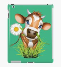 Cute cow has a gift for you iPad Case/Skin
