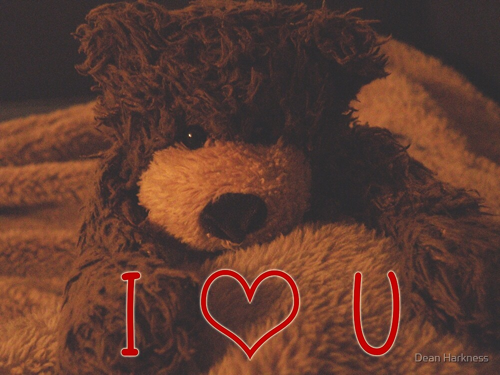 I love You Teddy Bear by Dean Harkness