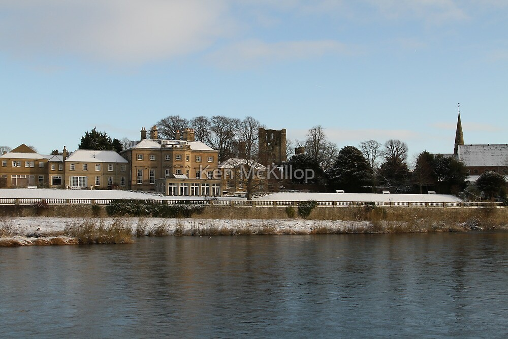 Ednam house and Kelso Abbey by Ken McKillop