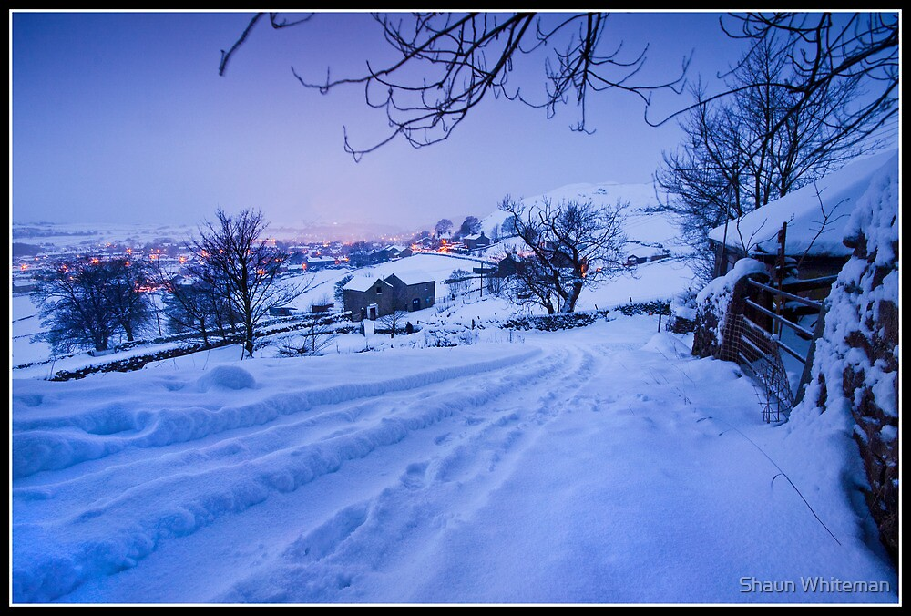 Snowy track to Settle before dawn by Shaun Whiteman