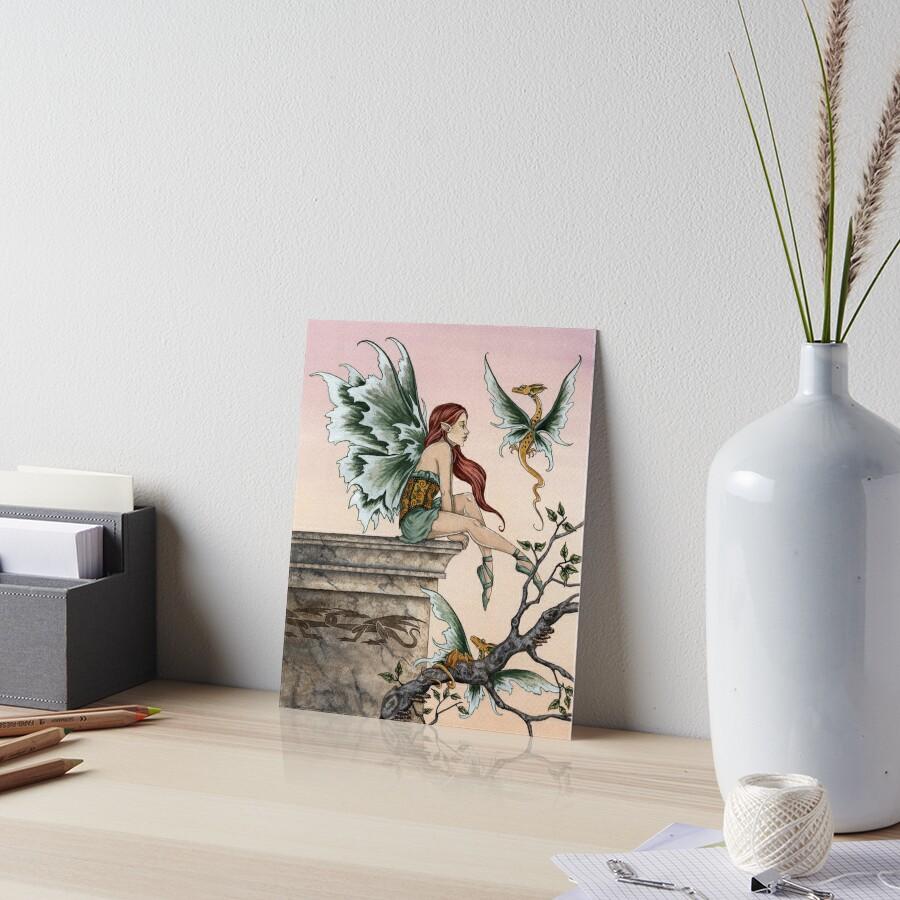 Golden Dragons Art Board Print
