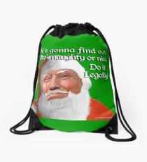 Naughty or Nice Drawstring Bag