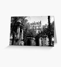 paris cemetery (Pere Lachaise) Greeting Card