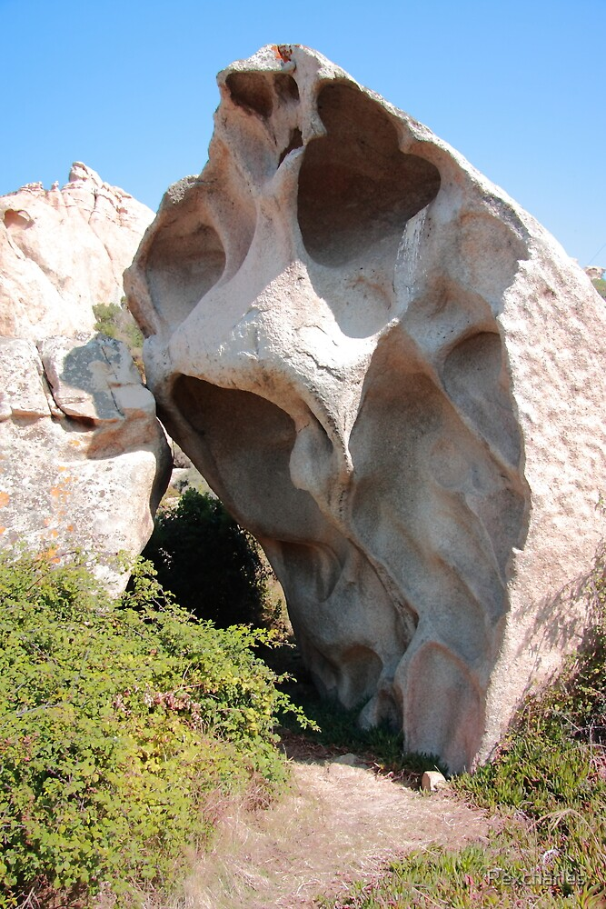 weathered rock in corsica by Rexcharles