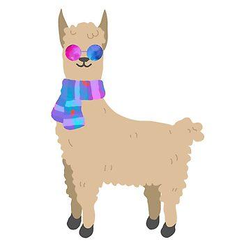 hippie llama by lolosenese