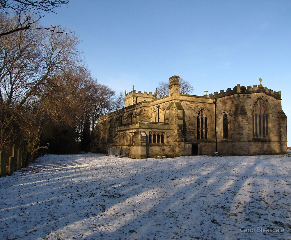 Church in the Snow by Carol Bleasdale