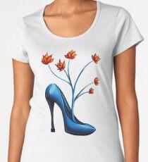 High Heel Shoe And Flower Bouquet Women's Premium T-Shirt