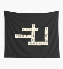 Misfits Characters Scrabble Wall Tapestry