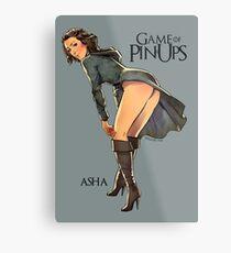 Asha Greyjoy Metal Print