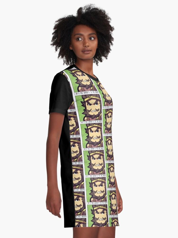 Alternate view of Dynasty Warriors Zhang Fei of Shu chibi Graphic T-Shirt Dress