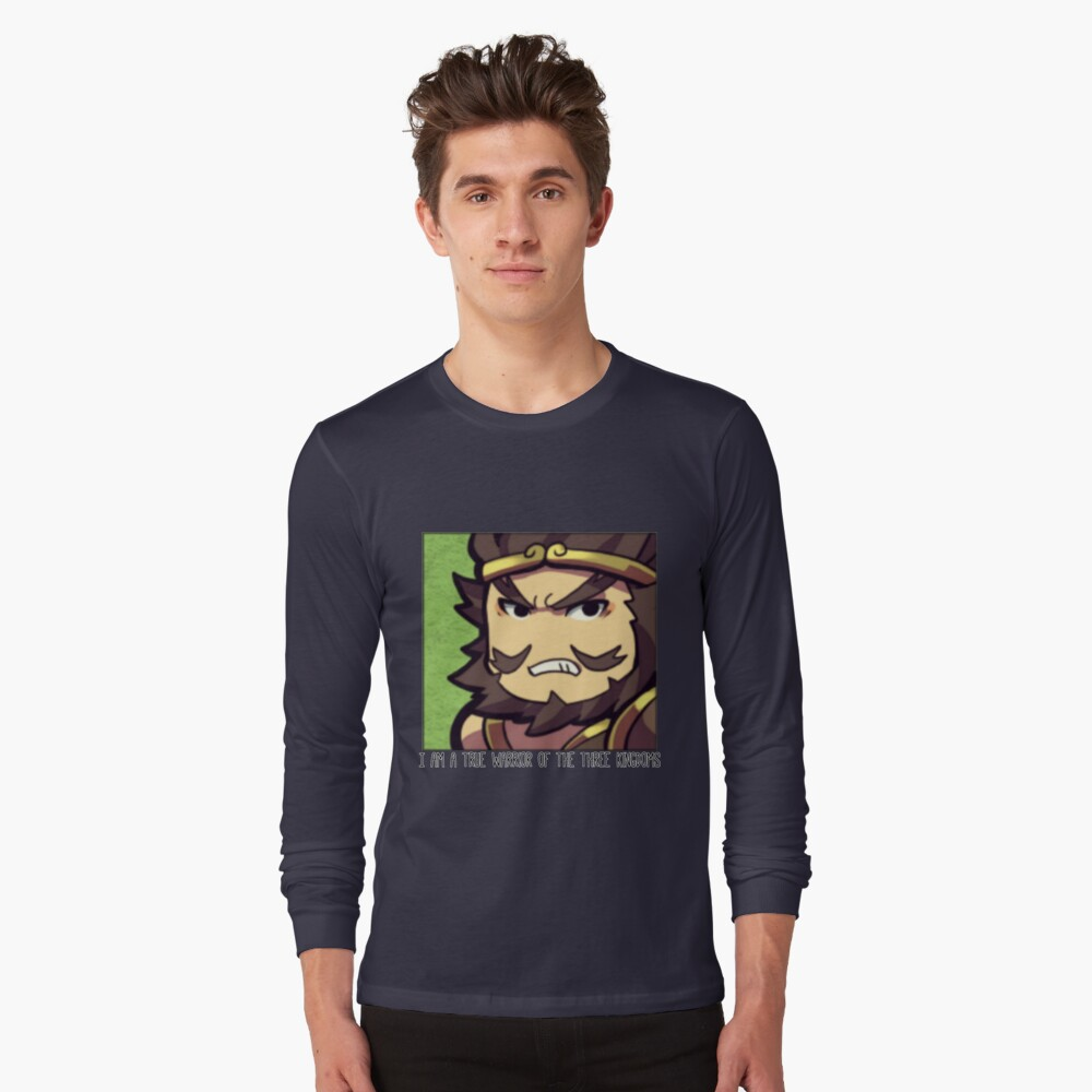 Dynasty Warriors Zhang Fei of Shu chibi Long Sleeve T-Shirt