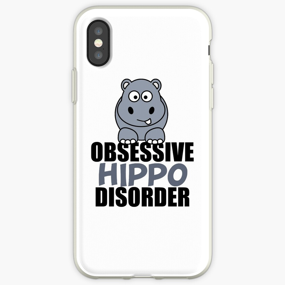 Lustige obsessive Hippo-Störung iPhone-Hülle & Cover
