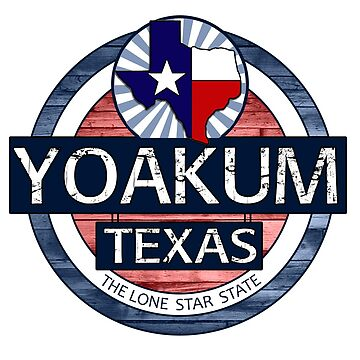 Yoakum Texas rustic wood circle by artisticattitud