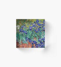 Irises by Vincent van Gogh Acrylic Block