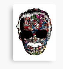 OFFICIAL Stan Lee - Man of Many Faces Canvas Print