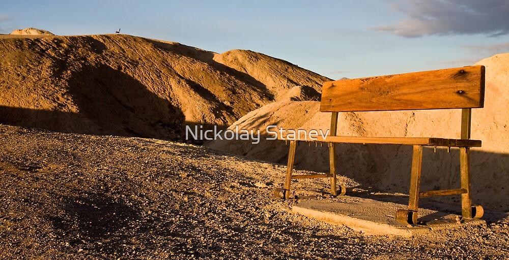 Benches at Zabriskie Point by Nickolay Stanev