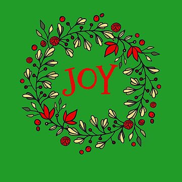 Beautiful Christmas Wreath with JOY Design by Dibble-Dabble