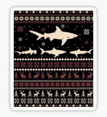 Shark Ugly Christmas Sweater Sticker
