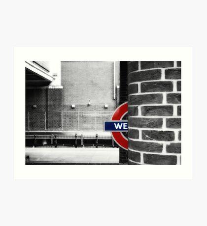 West Ham Tube Station Art Print