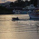 Port at dusk by Graham Mewburn