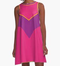 Pink Orange Purpur  A-Linien Kleid