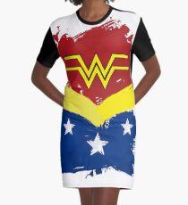 Wonder Painted Woman Graphic T-Shirt Dress
