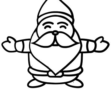 Happy Santa Claus Drawing Cartoon Hug Gnome - Christmas Holiday  by BullQuacky