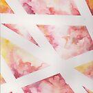 pink pastel watercolor shapes by SJohnsonartist