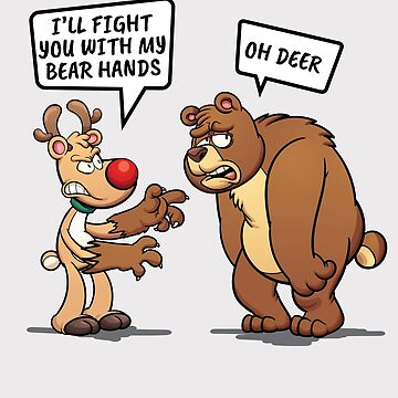 I'll Fight You With My Bear Hands Funny Gift by oceanwaves