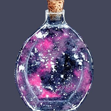 Bottle It Up - Watercolour Galaxy Painting by patti2905