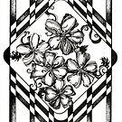 Flower Sanctuary, Ink Drawing by Danielle Scott