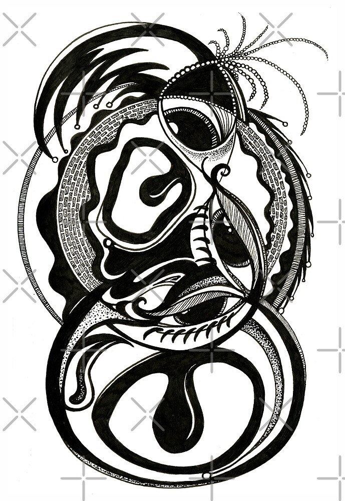 Exhaltation, Ink Drawing by Danielle Scott