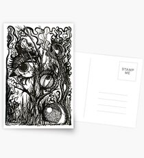 In the Darkness, Ink Drawing Postcards