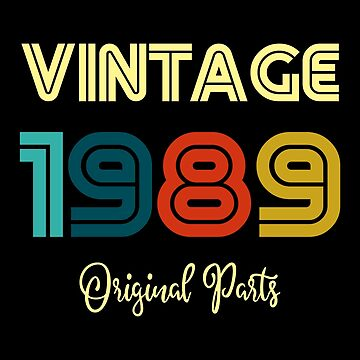 Vintage 30th Birthday Gift 1989 by ThreadsNouveau