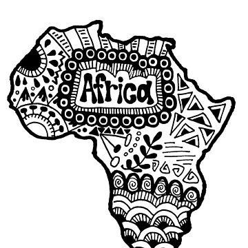 Africa Zentangle by alexavec