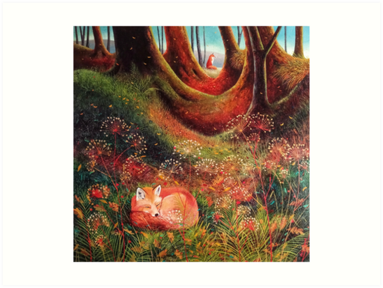 Sleeping Fox (2) by vickymount