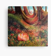 Sleeping Fox (2) Metal Print