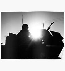 M240 Gunner Silhouette Poster