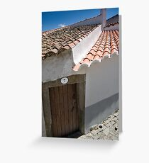Old front door house, Almeida, Portugal Greeting Card