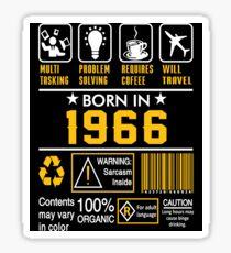Birthday Gift Ideas - Born In 1966 Sticker